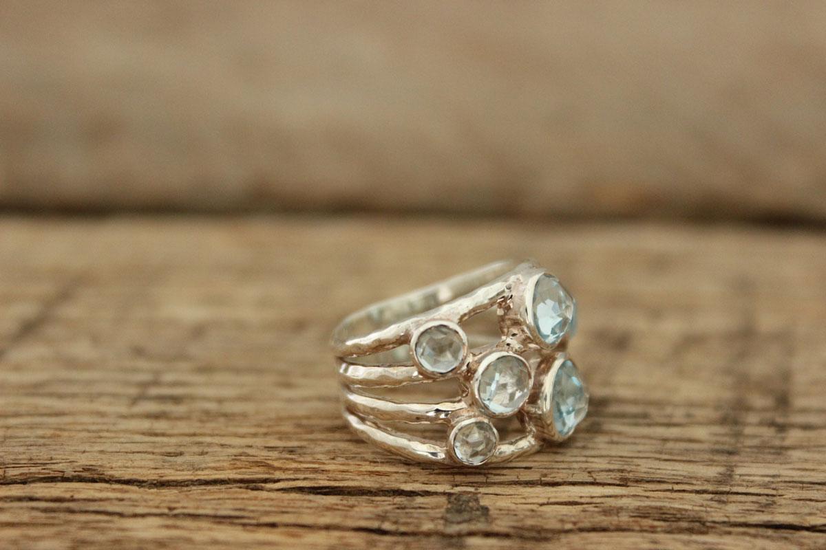 Ippolita Sterling Silver Blue Topaz Constellation Ring