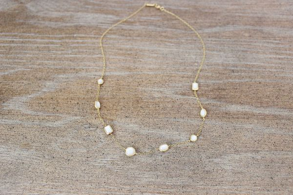 Ippolita 18k Gold Mother of Pearl Mini Gelato Necklace
