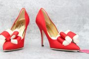 Kate Spade Red Satin Latrice Bow Pump