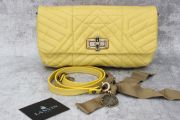 Lanvin Happy Quilted Leather Crossbody Clutch Yellow