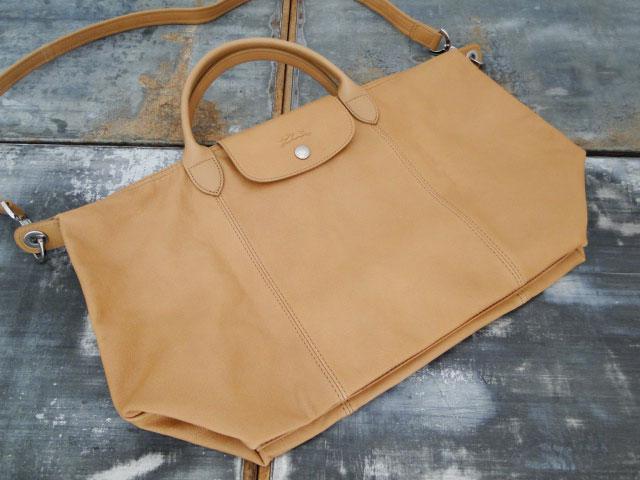 Longchamp Le Pliage Cuir Bag Camel