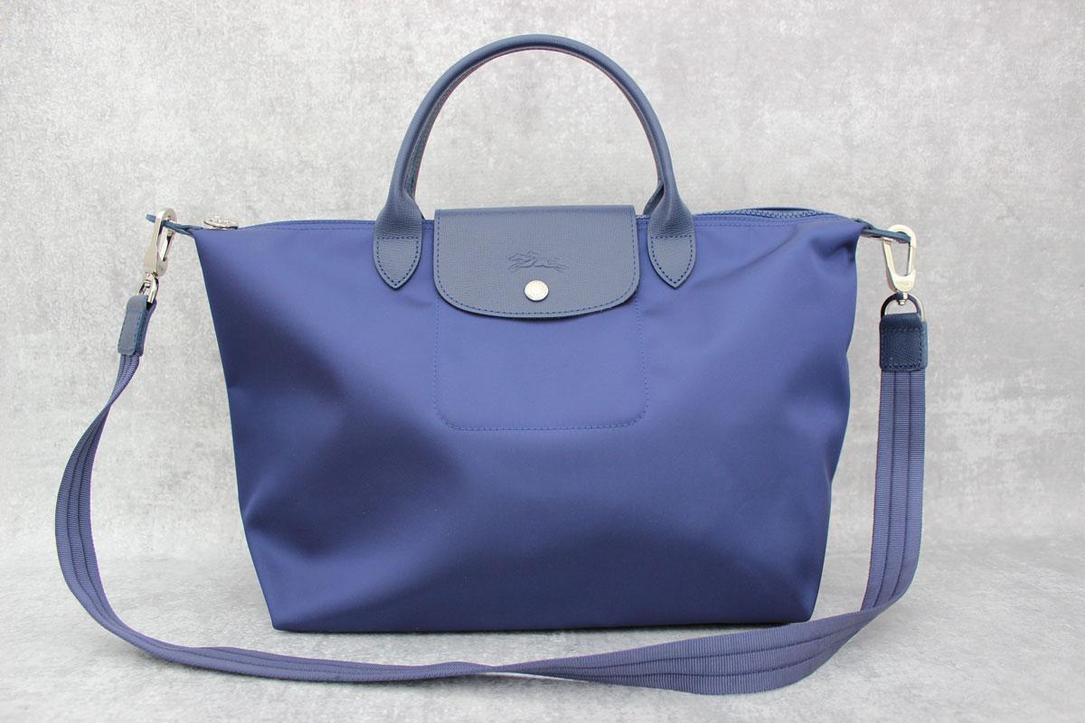 Longchamp Le Pliage Neo Bag Navy Blue at Jill's Consignment