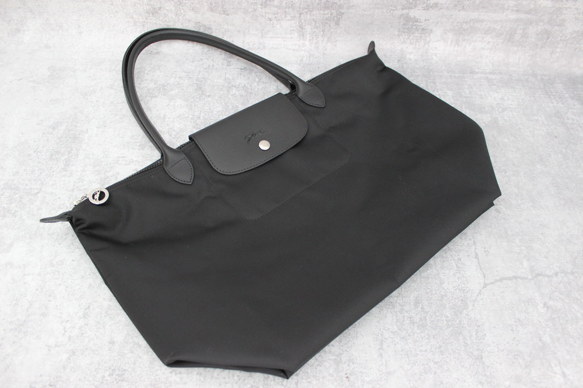 e7fe2522c Longchamp Large Le Pliage Neo Nylon Tote Black at Jill's Consignment
