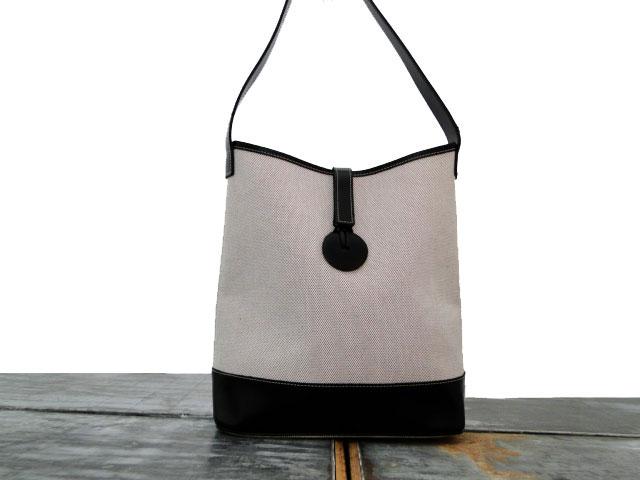 Longchamp Canvas   Leather Shoulder Bag Vintage 4ae16384b9bea