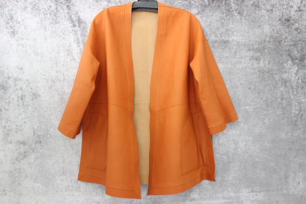 Loro Piana Reversible Leather Kimono Jacket Small