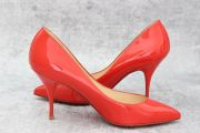 Christian Louboutin Red Patent Leather Pigalle 85 Heels