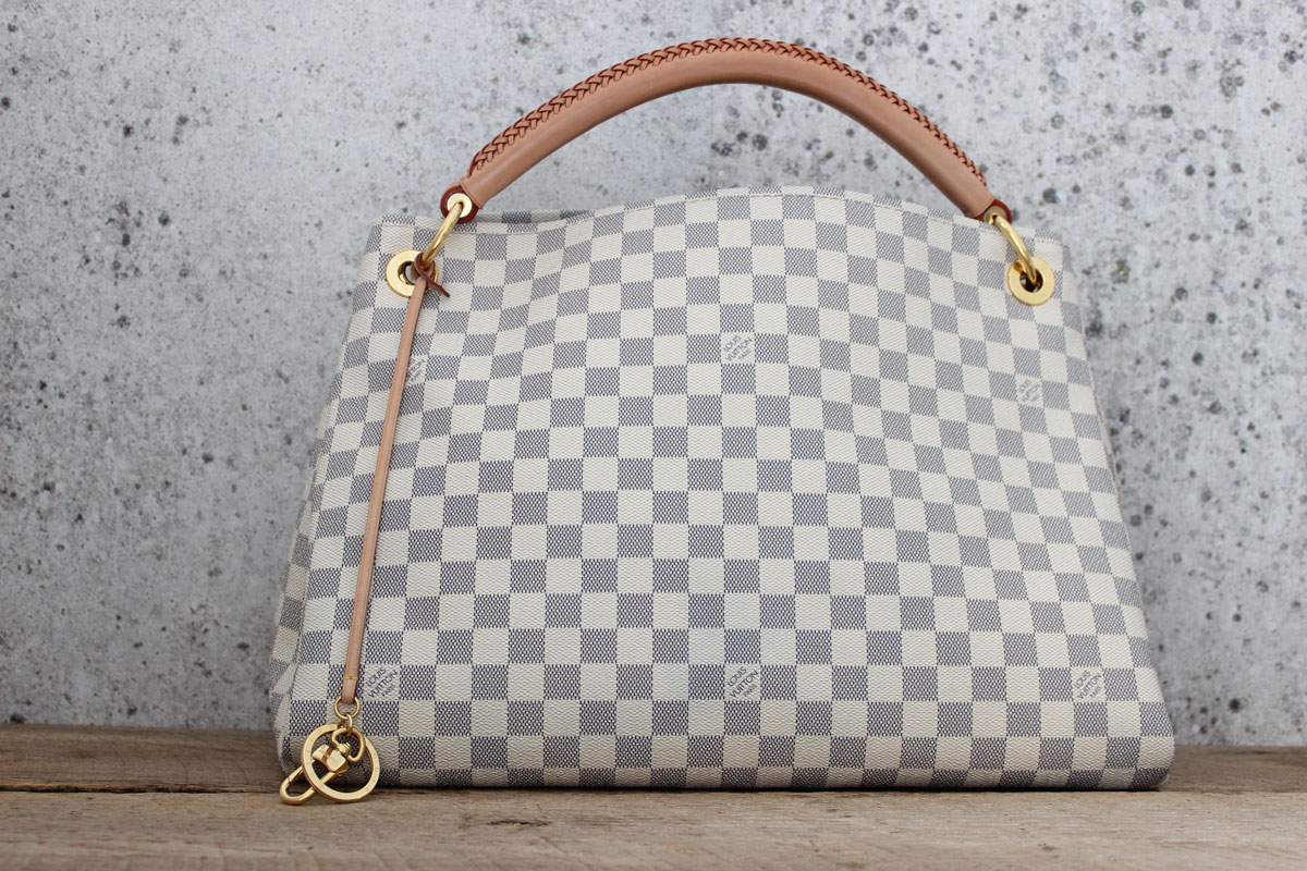 b1ce05a1622d Louis Vuitton Damier Azur ARTSY MM Shoulder Bag. Tap to expand