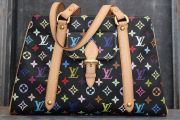 Louis Vuitton Black Multicolor Aurelia MM Shoulder Bag