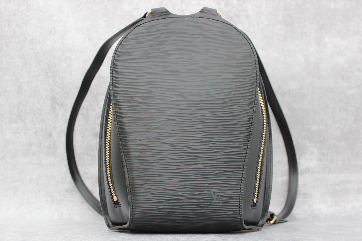 747d23fab7ef Louis Vuitton Black Epi Leather Mabillon Backpack Jill s Consignment