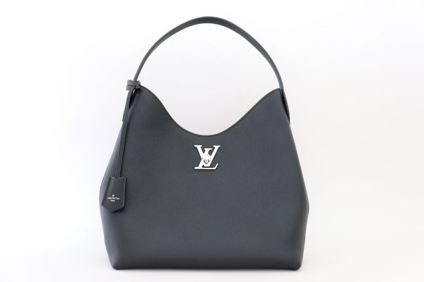 Louis Vuitton Black Calfskin Lockme Hobo