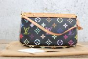 Louis Vuitton Black Multicolore Monogram Pochette Accessories