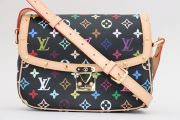 Louis Vuitton Black Multicolor Monogram Sologne