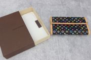 Louis Vuitton Black Multicolor Porte Tresor International Wallet