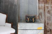 Louis Vuitton Black Multicolor LODGE PM Shoulder Bag