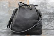 Louis Vuitton Black Epi Leather Petite Noe