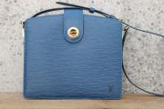Louis Vuitton Toledo Blue Epi Leather CAPUCINES Shoulder Bag