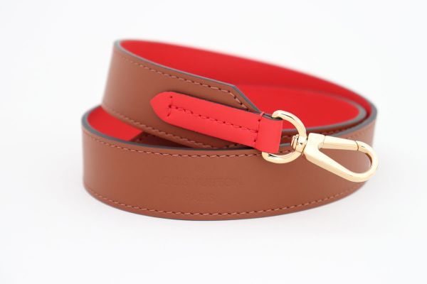 Louis Vuitton Caramel and Red Bandouliere Shoulder Strap