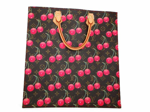 Louis Vuitton Limited Ed Murakami Cerises Cherry Sac Plat tote 137f3fa8bb6d7