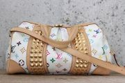 Louis Vuitton White Multicolore Monogram COURTNEY MM Bag