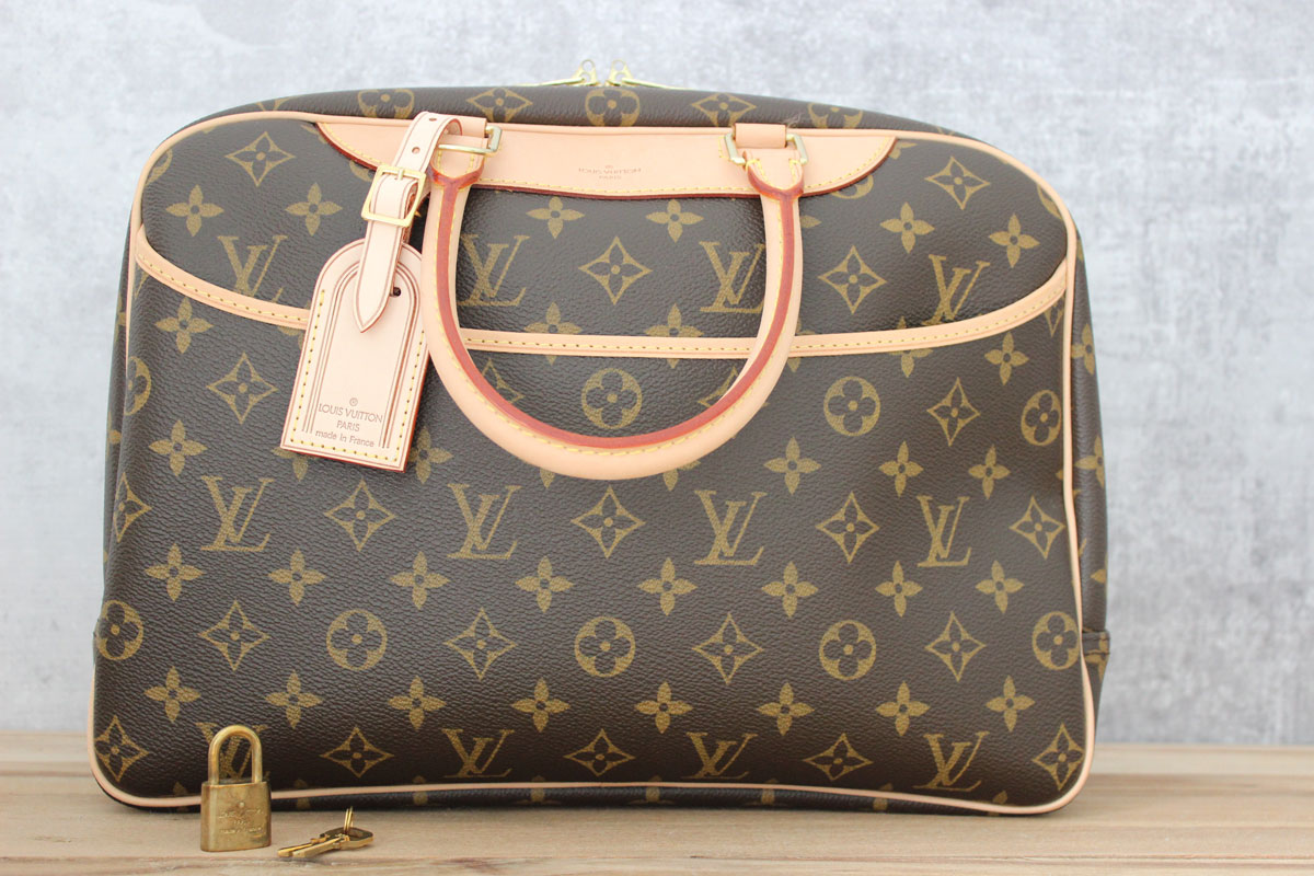 Louis Vuitton Monogram Deauville Satchel Travel Handbag I7HtmQYvau
