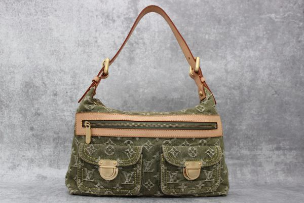 Louis Vuitton Monogram Denim Baggy PM Green