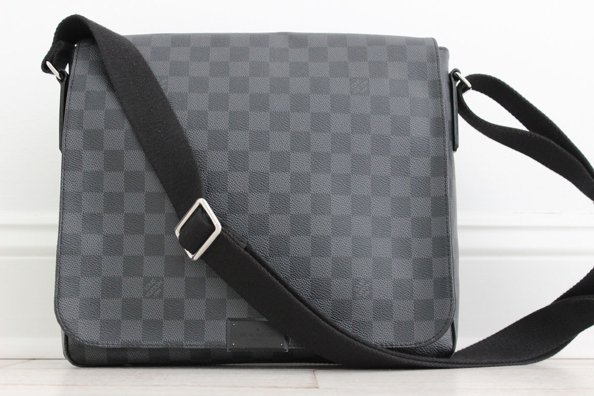 185b412bdb3c Louis Vuitton Damier Graphite District MM Messenger. Tap to expand