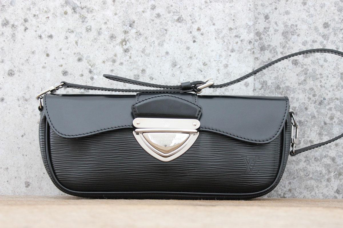 9181b2362fb6 Louis Vuitton Black Epi Leather MONTAIGNE Clutch. Tap to expand