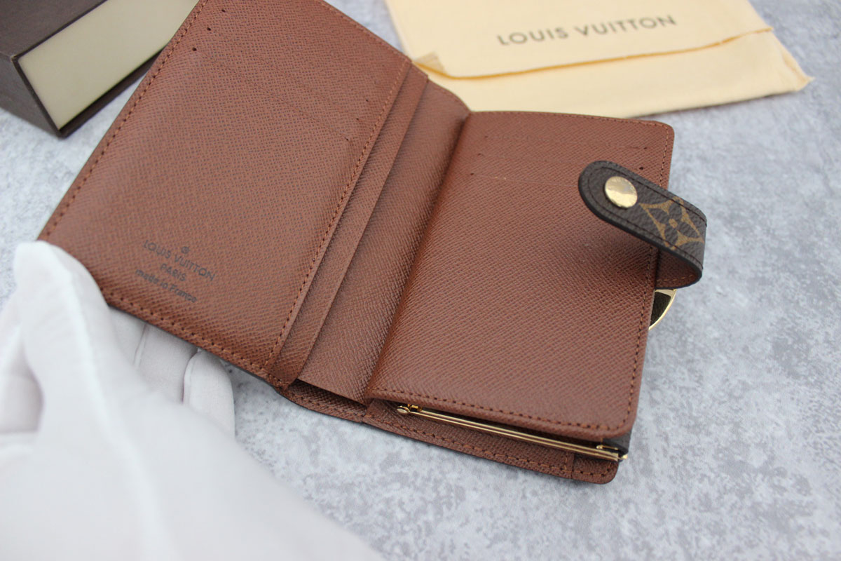Louis Vuitton Made In France >> Louis Vuitton Monogram Canvas French Purse Wallet