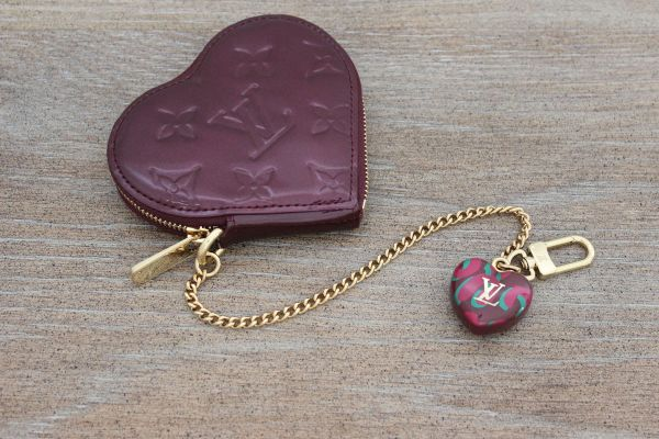 Louis Vuitton Heart Coin Purse Rouge Fauviste
