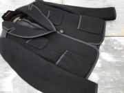 Louis Vuitton Black Wool & Satin Jacket 34