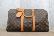 Louis Vuitton Vintage Monogram Canvas KEEPALL 45