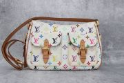 Louis Vuitton White Multicolor Monogram Lodge GM Damaged