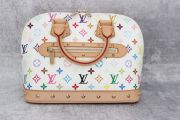 Louis Vuitton White Multicolor Monogram Alma PM