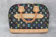 Louis Vuitton Black Multicolor Monogram Alma PM