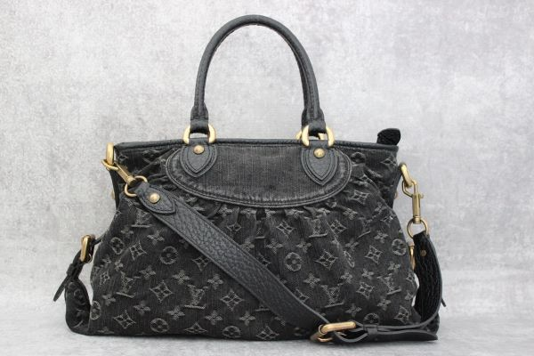 Louis Vuitton black denim Neo Cabby MM