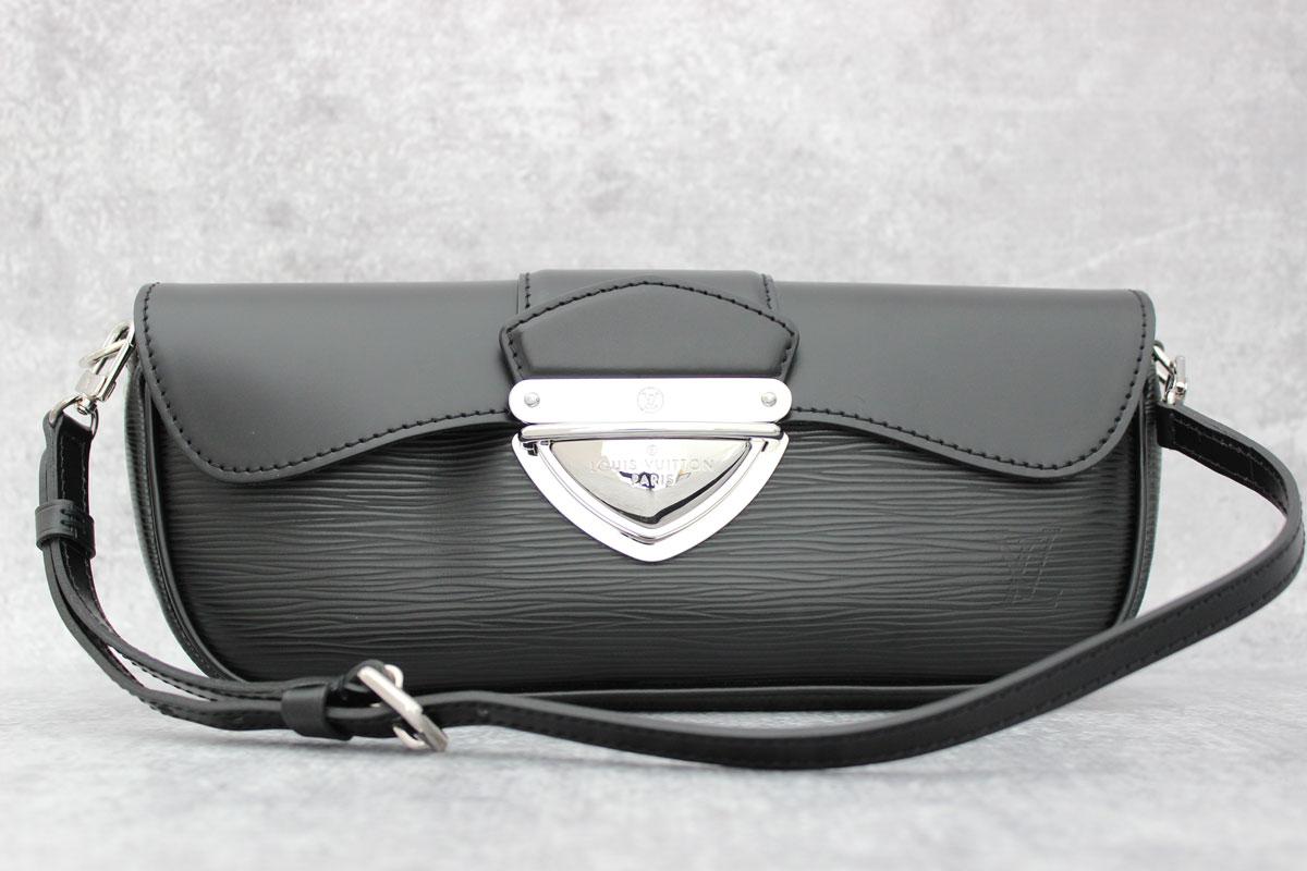 ae456656da7c Louis Vuitton Black Epi Leather Pochette Montaigne at Jill s Consignment