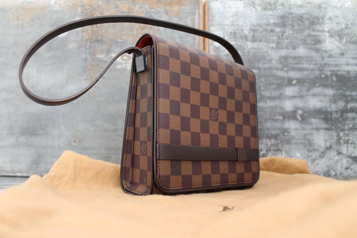 100 Authentic Mini Louis Vuitton Made In France Has No Date >> Louis Vuitton Damier Ebene Tribeca Mini Shoulder Bag