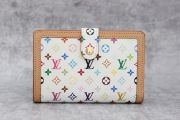 Louis Vuitton White Multicolor French Purse Wallet