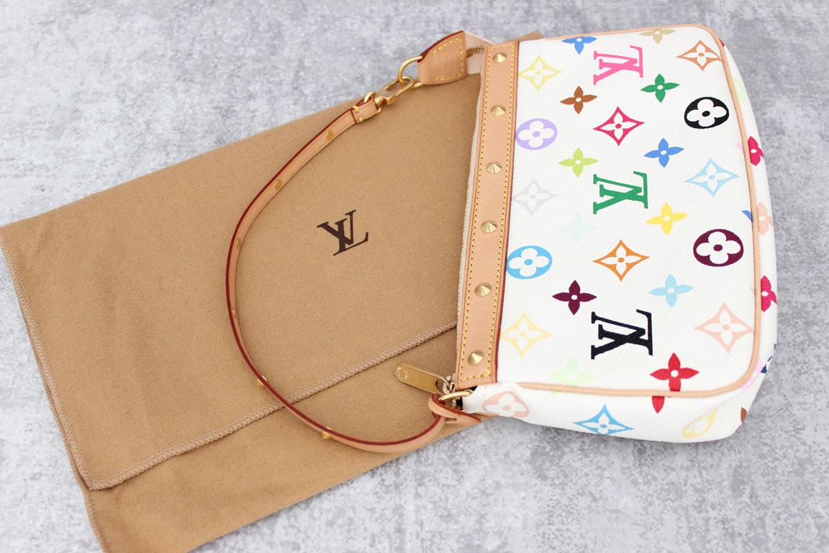 1d32a7c2d83a Tap to expand. Louis Vuitton White Multicolor Pochette Accessories. Louis  Vuitton White Multicolor Monogram ...