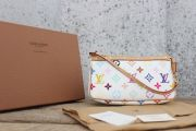 Louis Vuitton White Multicolore Monogram Pochette Accessories