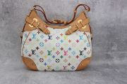 Louis Vuitton White Multicolor Monogram Greta Shoulder Bag