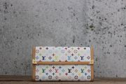 Louis Vuitton White Multicolor Porte Tresor International Wallet
