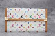 Louis Vuitton white multicolor monogram Porte Tresor International wallet