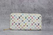 Louis Vuitton White Multicolor Monogram Zippy Wallet