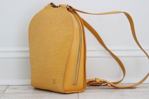 Louis Vuitton Yellow Epi Leather Mabillon Backpack