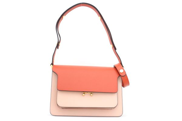 Marni Saffiano Leather Trunk Bag