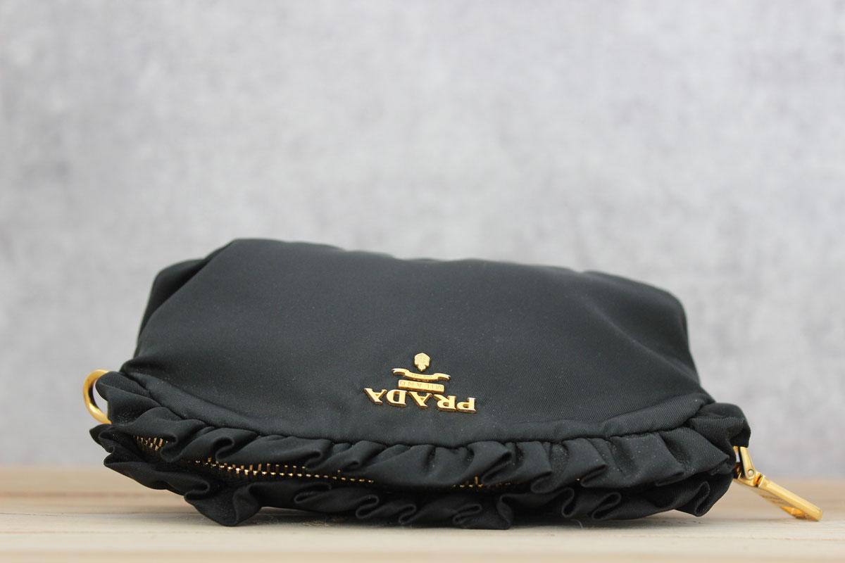... uk prada ruffle cosmetic bag. tap to expand 65d85 4da4e 4859253c40887