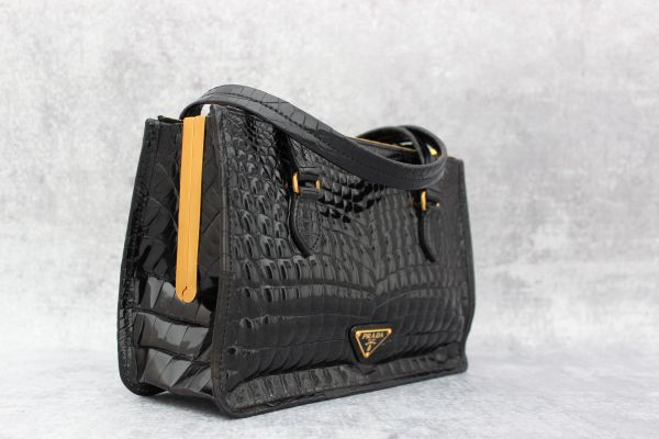 Prada Black Crocodile Handbag