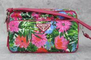 Prada Tessuto Printed Crossbody Camera Bag Pink Floral