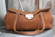 Prada Brown Leather Press-Lock 'Easy' Satchel